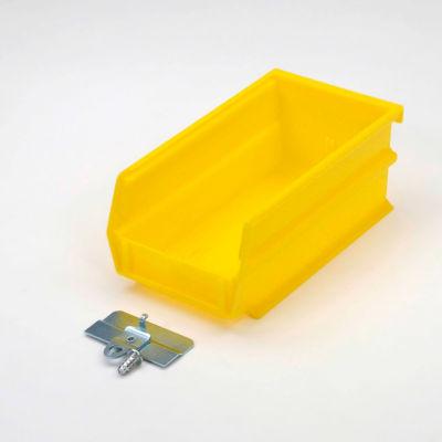 LocBin 7-3/8 in. L x 4-1/8 in. W x 3 in. H YellowPolypropylene Hanging Bin and BinClip Kits (24-Count)