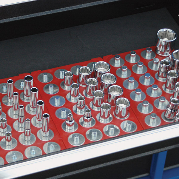 "3/8"" Red Socket Caddy & 28 Pegs"