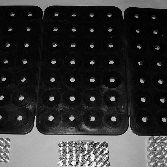 Blk 3-Panel Power Mat 84 Pegs
