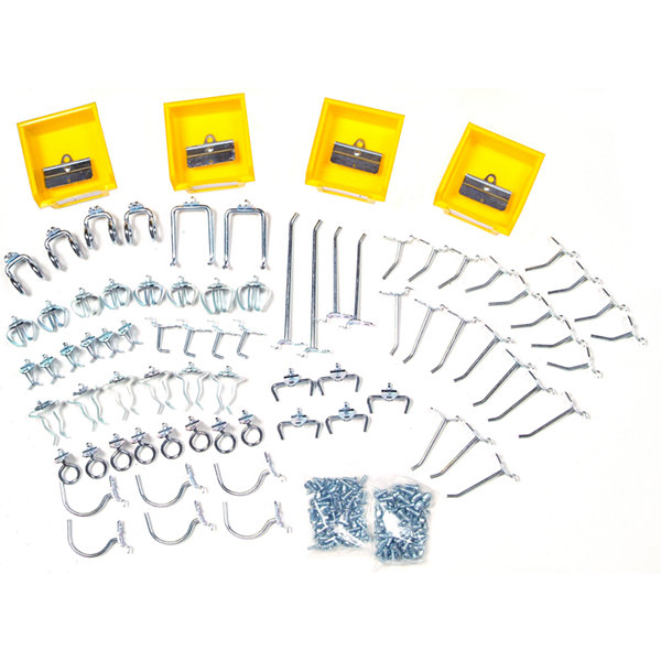 Triton DuraHook 83 Piece Steel Hook and Bin Assortment Kit for Pegboard