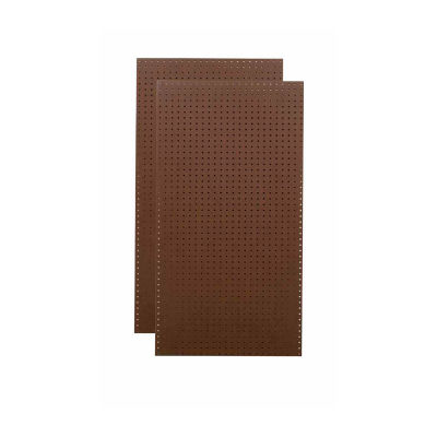 (2)24x48x1/4 Black Tempered Pegboards