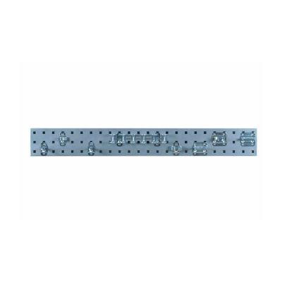 36 x 4.5 Silver Steel Tool Pegboard Kit