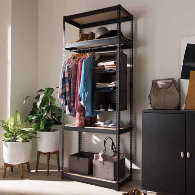 Baxton Studio Gavin Metal 4-Shelf Closet Storage Shelving Unit