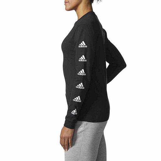 e80788f4de9 adidas Long Sleeve Crew Neck T Shirt Womens JCPenney
