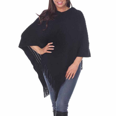 White Mark Womens Poncho