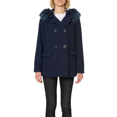 Details Heavyweight Hooded Peacoat
