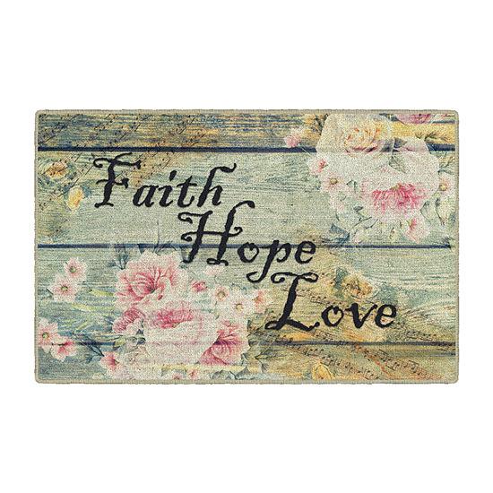 Brumlow Faith Hope Love Printed Rectangular Indoor Rugs