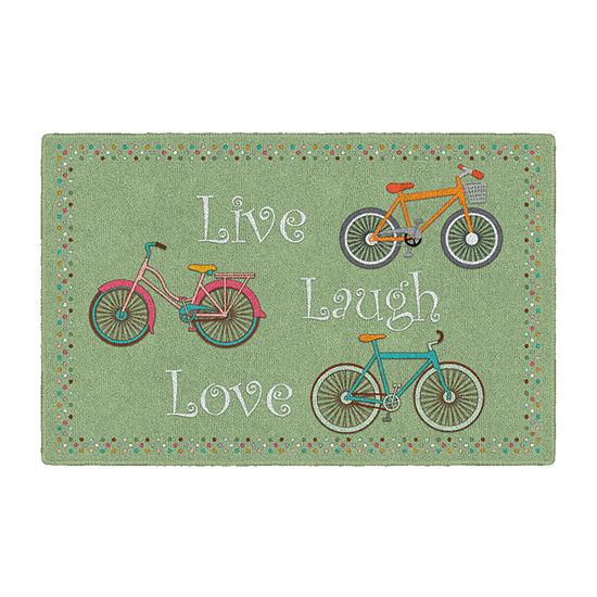 Brumlow Spring Bicycles Printed Rectangular Indoor Rugs