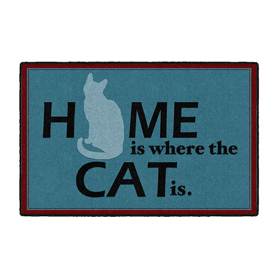 Brumlow Home Is Where Your Cat Is Printed Rectangular Indoor Rugs