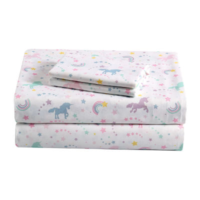 Frank And Lulu Unicorn Dreams Microfiber Sheet Set