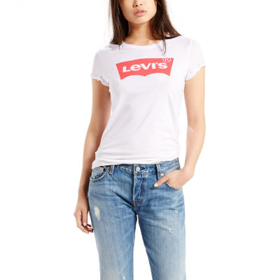 Levi's-Womens Crew Neck Short Sleeve T-Shirt