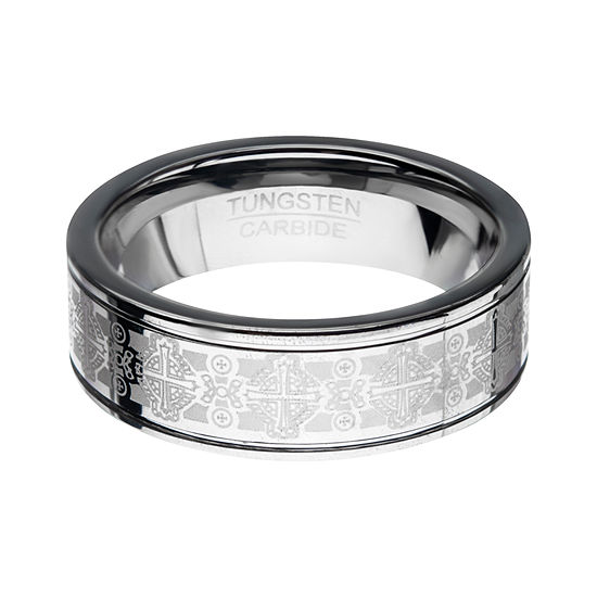 Inox Mens Jewelry 8MM Tungsten Wedding Band