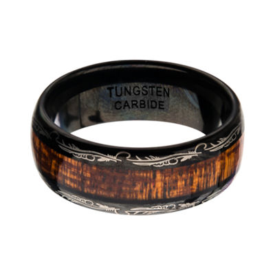 Inox Mens Jewelry 8MM Tungsten Wedding Band