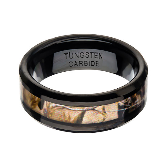 Inox Jewelry Mens 8mm Tungsten Wedding Band