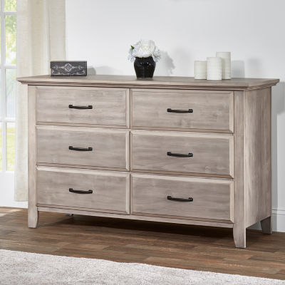 Oxford Baby Universal  6-Drawer Nursery Dresser - Natural