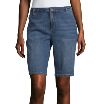 Liz Claiborne Twill Bermuda Short - Tall