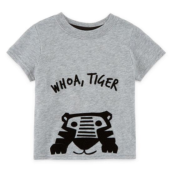Okie Dokie Boys Round Neck Short Sleeve T-Shirt-Baby