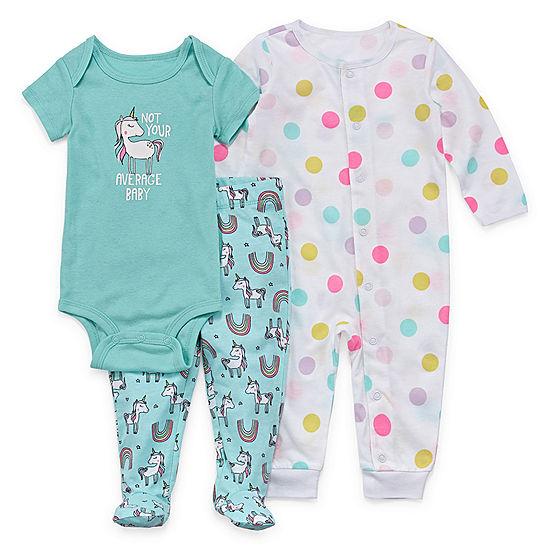 b15b790bb Okie Dokie 3-pc. Bodysuit Set-Baby Girls - JCPenney