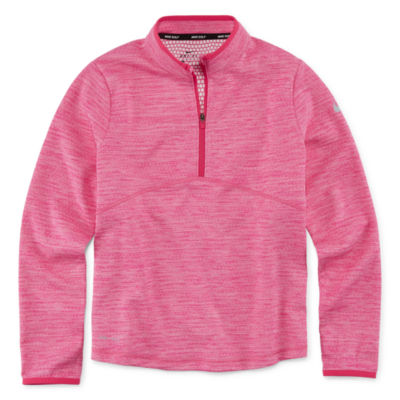 Nike Girls Mock Neck Long Sleeve T-Shirt-Big Kid