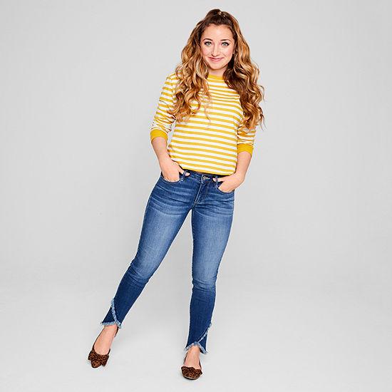 Arizona Womens Low Rise Slim Cropped Jean - Juniors
