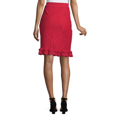 Liz Claiborne Womens Mid Rise Pencil Skirt