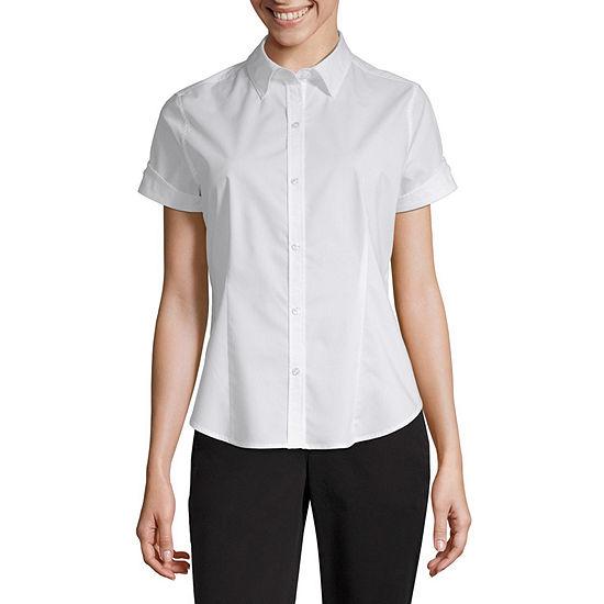 28789024 Liz Claiborne® Short-Sleeve Button-Front Shirt - JCPenney