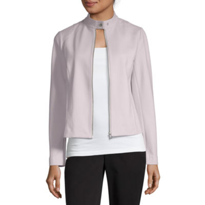 Liz Claiborne Spring Bouquet Ponte Midweight Motorcycle Jacket