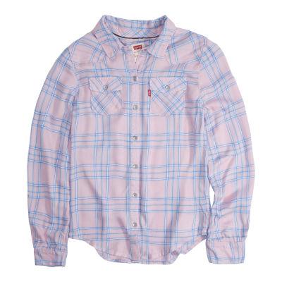 Levi's Girls Long Sleeve Button-Front Shirt Preschool / Big Kid