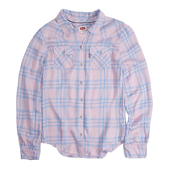 Levi's Little Kid / Big Kid Girls Long Sleeve Button-Front Shirt