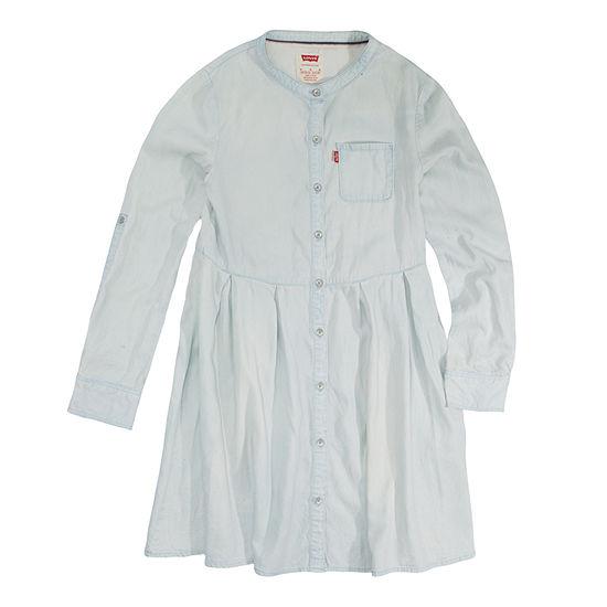 Levi's Long Sleeve Swing Dresses Girls - Big Kid