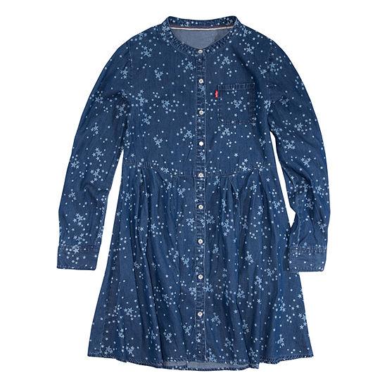 Levi's Girls Long Sleeve Swing Dresses - Big Kid