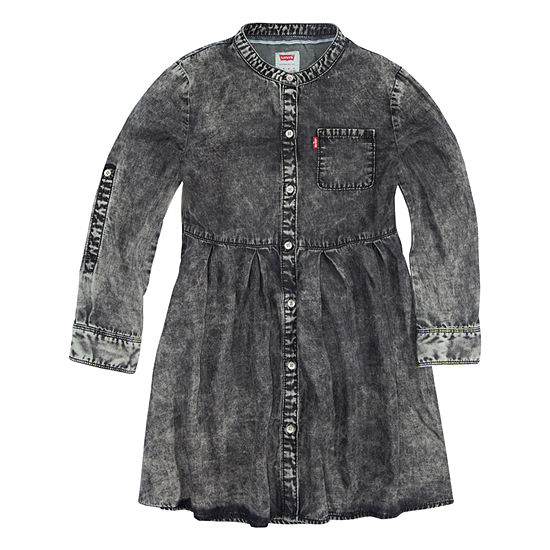 Levi's Girls Long Sleeve Swing Dresses - Big Kid