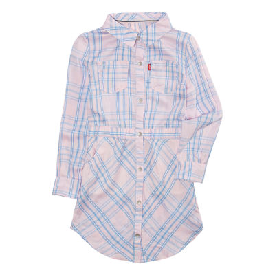 Levi's Long Sleeve Swing Dresses-Preschool Girls