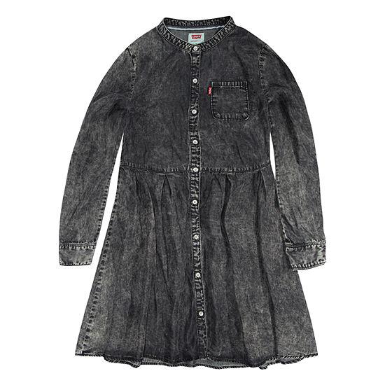 Levis Long Sleeve Swing Dresses Girls Preschool