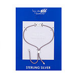 Footnotes Into The Wild Sterling Silver Braid Bolo Bracelet