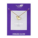 Footnotes Unicorn Sterling Silver 18 Inch Cable Pendant Necklace