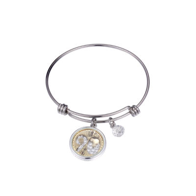 Disney Clear Pure Silver Over Brass Mickey Mouse Bangle Bracelet