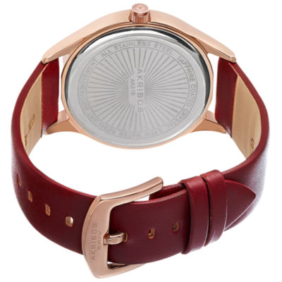 Akribos XXIV Not Applicable Mens Red Strap Watch-A-618rgr