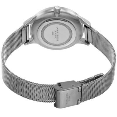 Akribos XXIV Womens Silver Tone Bracelet Watch-A-1005ss