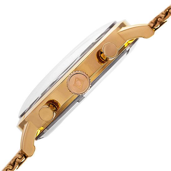 Akribos XXIV Mens Gold Tone Bracelet Watch-A-714yg