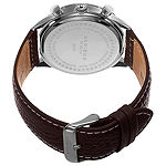 Akribos XXIV Mens Brown Strap Watch-A-751wbr