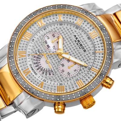 Akribos XXIV Mens Two Tone Bracelet Watch-A-900ttg