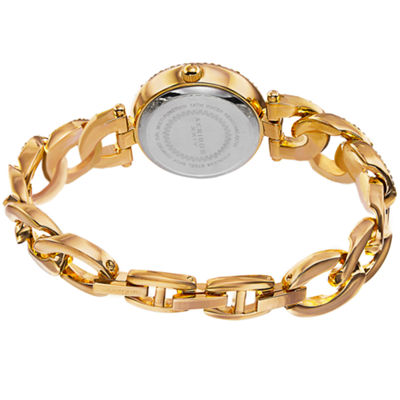 Akribos XXIV Womens Gold Tone Bracelet Watch-A-756yg