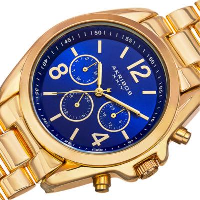 Akribos XXIV Womens Gold Tone Bracelet Watch-A-760ygbu