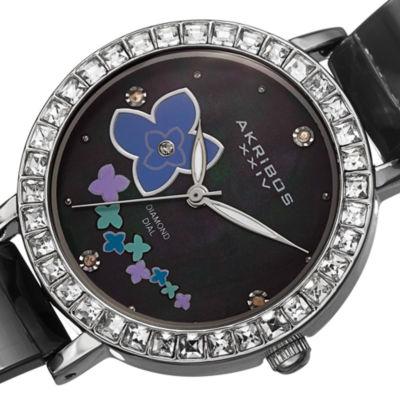 Akribos XXIV Womens Silver Tone Bracelet Watch-A-762ssb