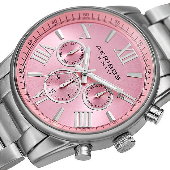 Akribos Xxiv Womens Silver Tone Bracelet Watch A 908sspk