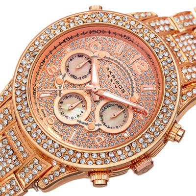 Akribos XXIV Not Applicable Womens Rose Goldtone Bracelet Watch-A-776rg