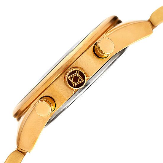 Akribos XXIV Womens Gold Tone Bracelet Watch-A-908tq