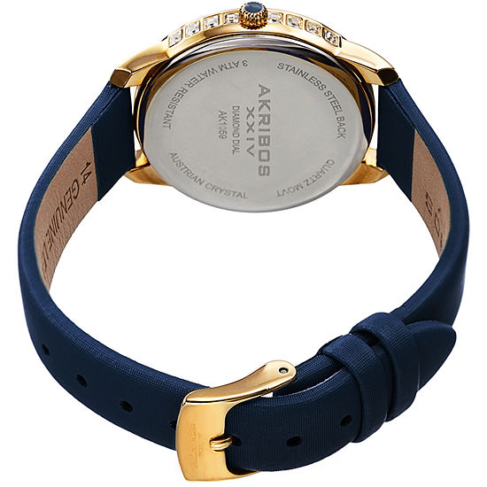 Akribos Xxiv Not Applicable Womens Blue Strap Watch A 1059bu