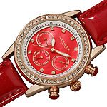 Akribos XXIV Womens Red Strap Watch-A-556rd